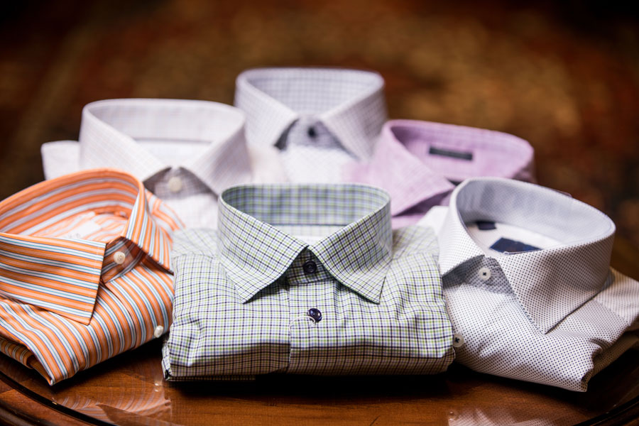Sportswear & Outwear - shirts on the table