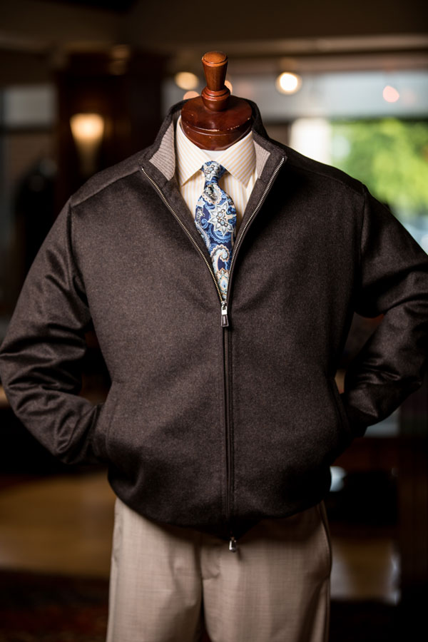 Sportswear & Outwear - men's jacket and pants on the stand