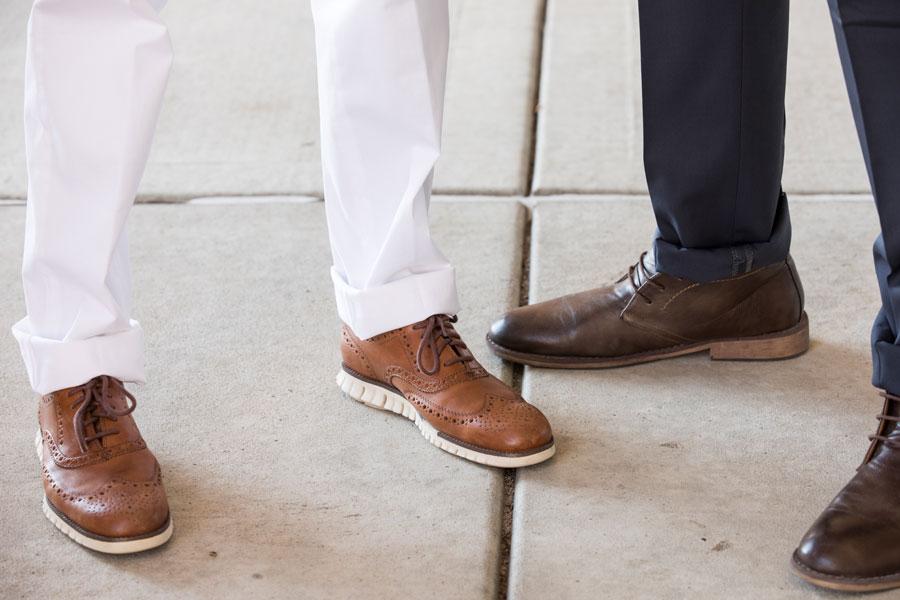 Shoes & Belts - two men wearing shoes