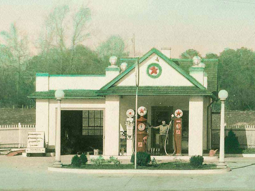 Before photo of Texaco Building restored by Fairfield Foundation