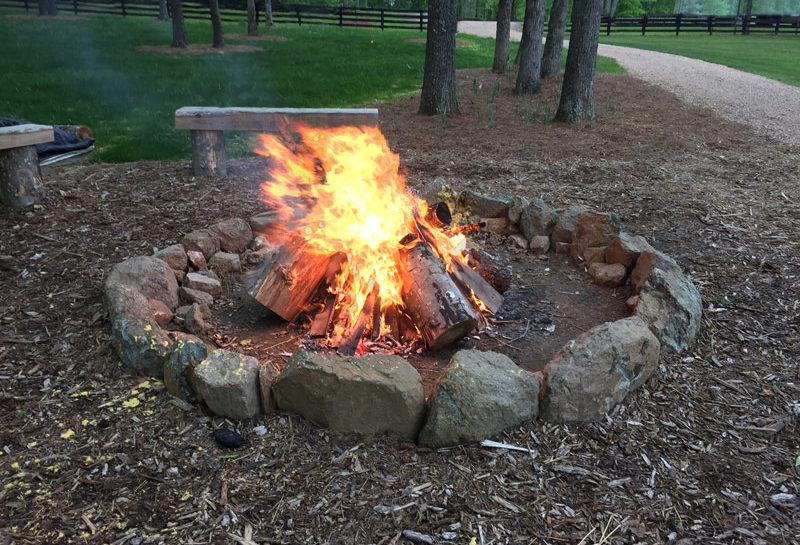 Wedding Barn & Grounds Bonfire