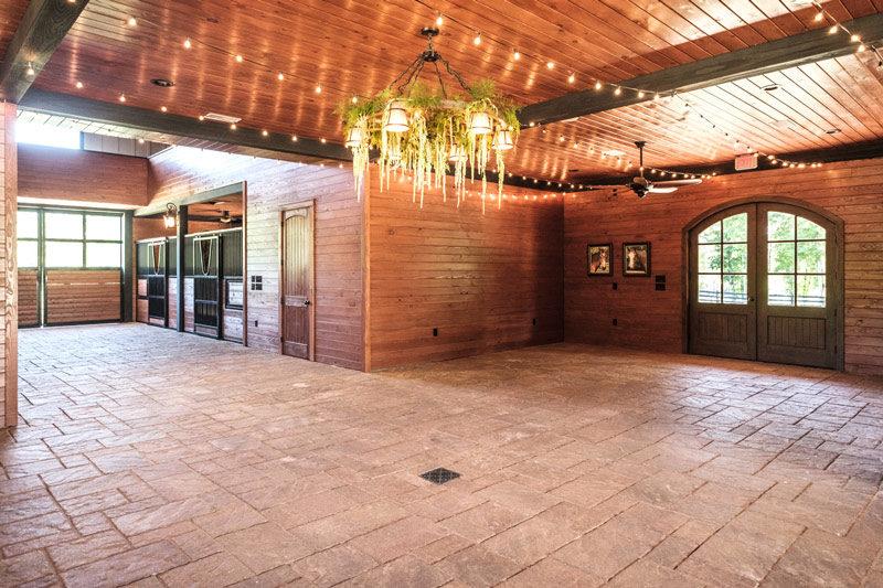 Wedding Barn & Grounds Inside Barn