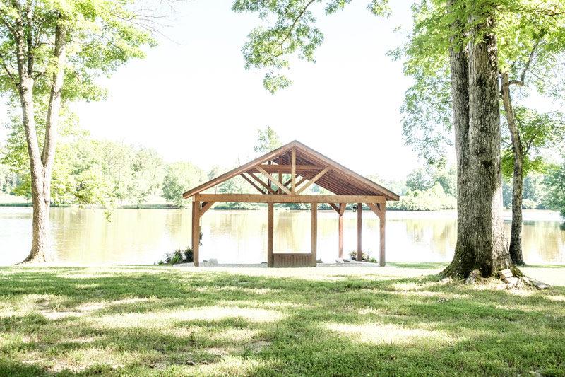 Wedding Barn & Grounds Lakefront Ceremony