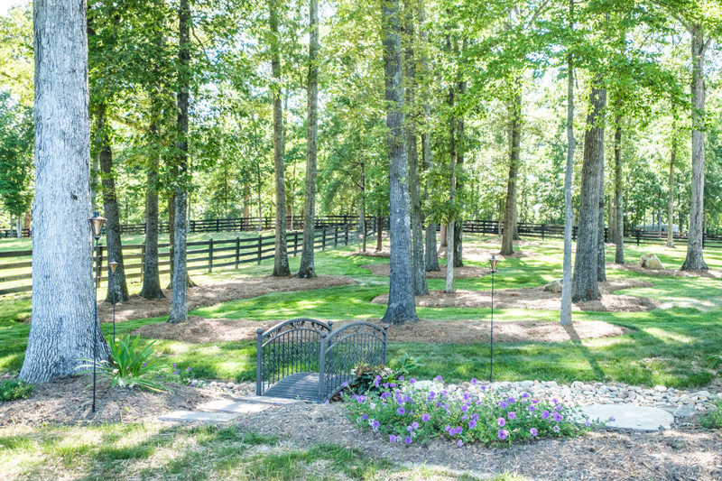 Wedding Barn & Grounds Wooded Area