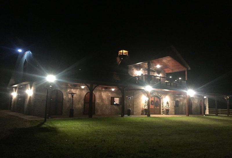 Wedding Barn & Grounds Barn at Night