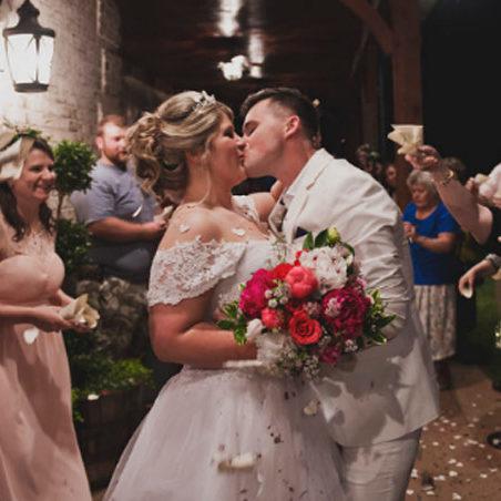 Event & Wedding Venue Couple Kissing