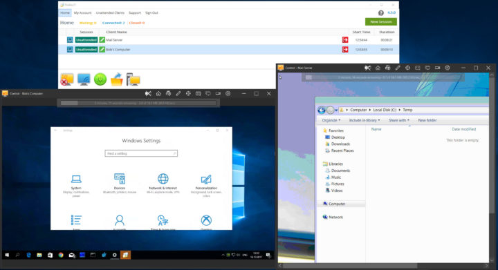 FixMe.IT Multi-Window Remote Control Feature