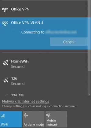 "VPN gets stuck on ""connecting"" in Windows 10"