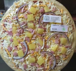 Take and Bake Pizza at Soda Springs General Store Hawaiian Pizza