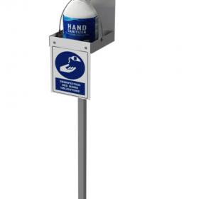 Multi Function Hand Sanitizer Dispenser Stand