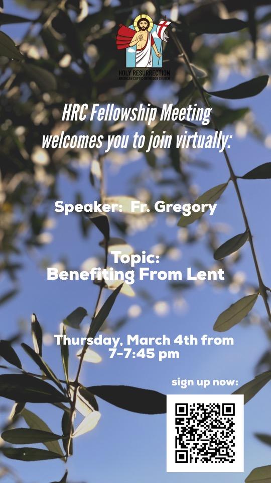 HRC Fellowship meeting flyer - Mar 2021