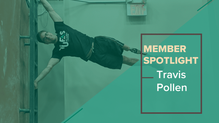 Lounge Legend: Travis Pollen – Personal Trainer, Adaptive Bouldering Competitor