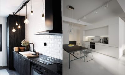 35 White Kitchen with Awesome Lighting