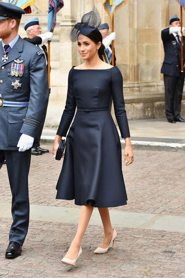 Dior Haute Couture Black Bateau Neck Dress-Meghan Markle