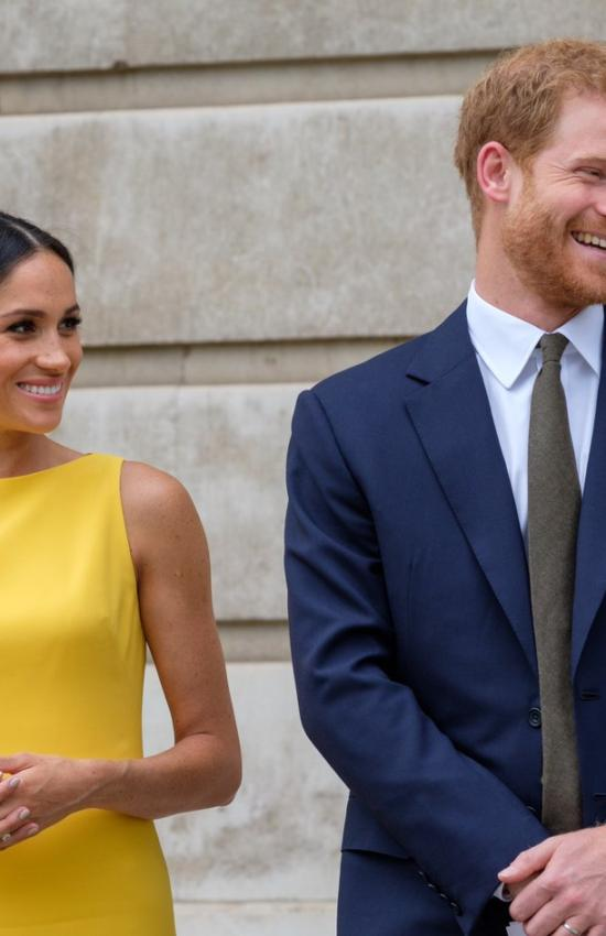 Meghan Markle in Yellow Brandon Maxwell for Youth Commonwealth Reception