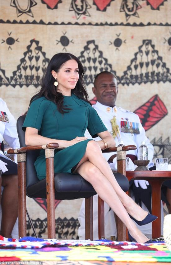 Royal Tour Day 10: Meghan Wears Emerald Jason Wu and Red Self-Portrait