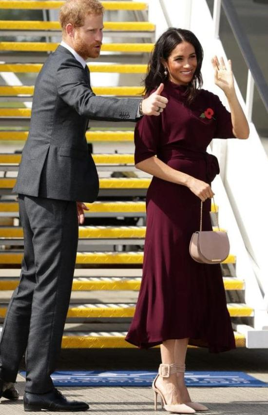 Royal Tour Day 13: Meghan Wears Black ASOS Maternity Dress