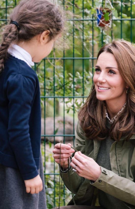 Kate Middleton Back from Maternity Leave for Wildlife Garden Visit