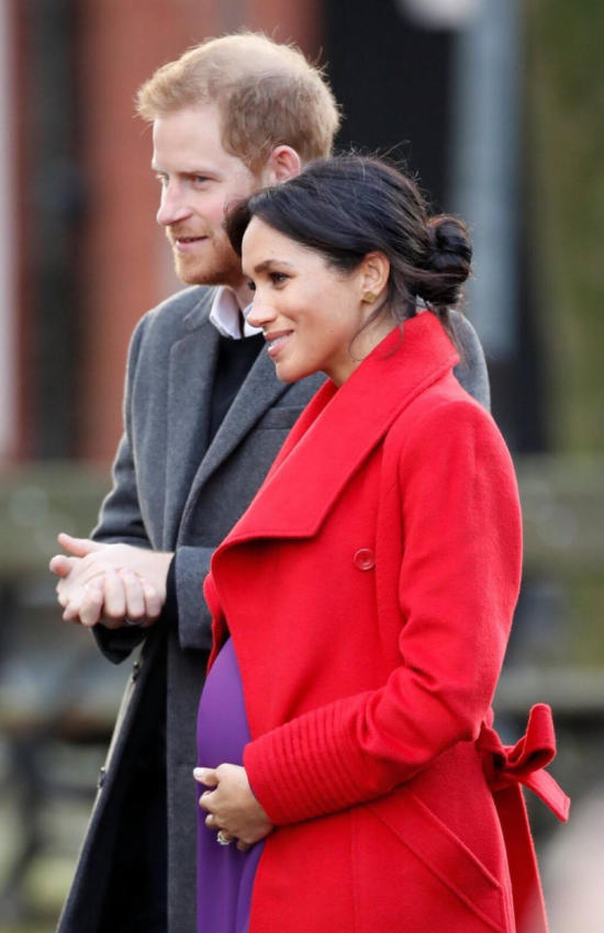 Meghan Markle in Red Sentaler for First Outing with Prince Harry in 2019