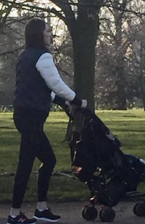 The Duchess of Cambridge Spotted with Prince Louis in Hyde Park