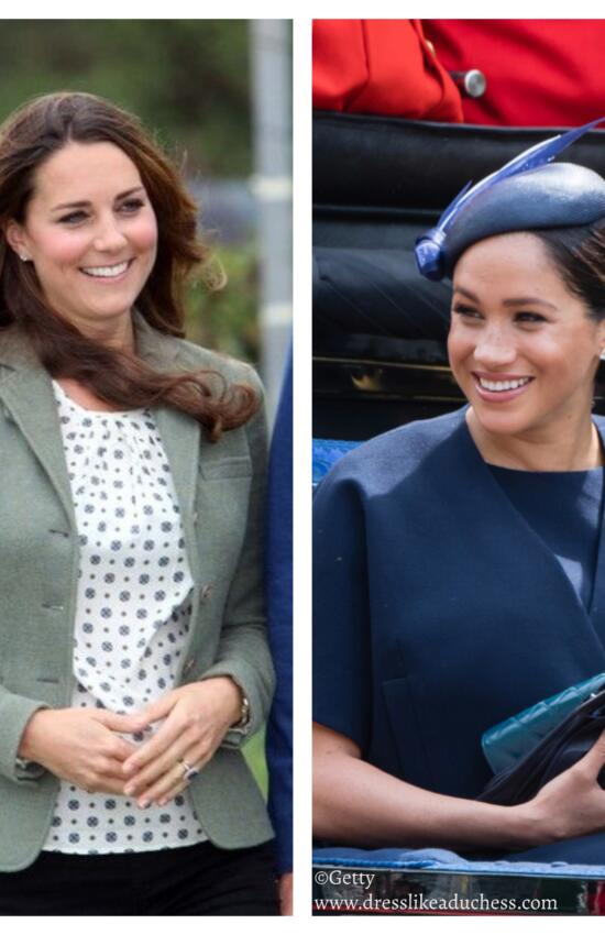 See How Meghan Markle and Kate Middleton's Post Baby Debuts Compare