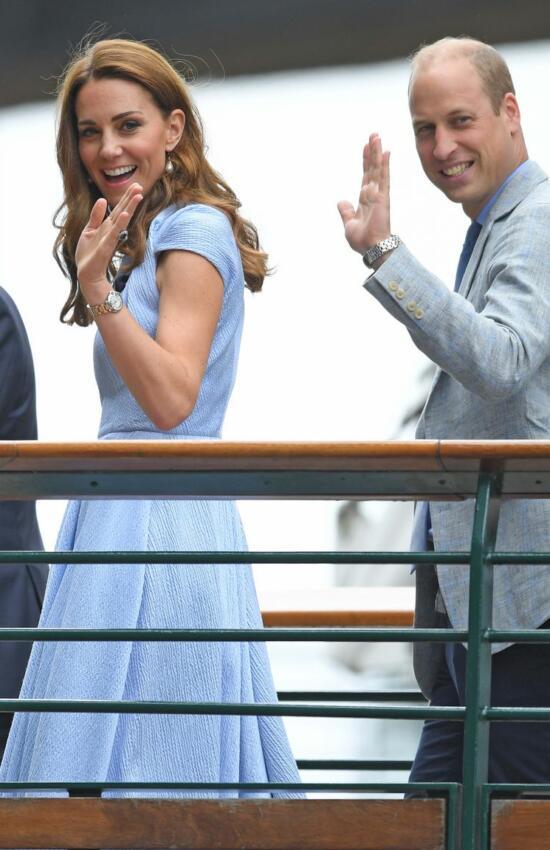 The Duchess of Cambridge in Pale Blue Emilia Wickstead for Wimbledon