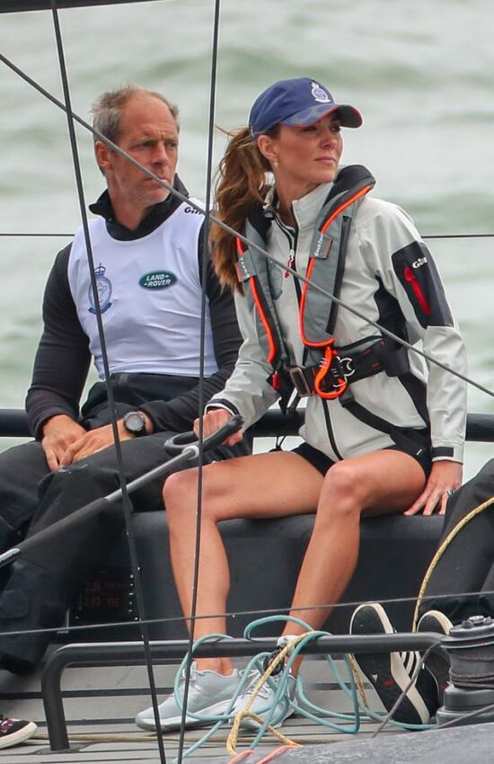 Smooth Sailing for the Duchess of Cambridge in Sandro For King's Cup