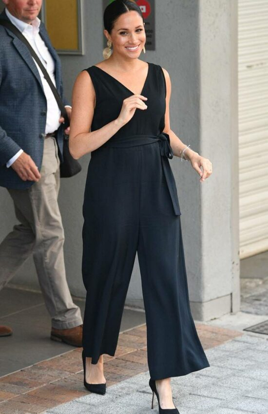 Meghan Markle Steps Out in Everlane Jumpsuit for Solo Appearance