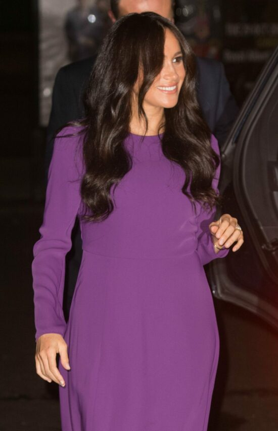 Meghan Markle in Purple Babaton Dress for One Young World Summit
