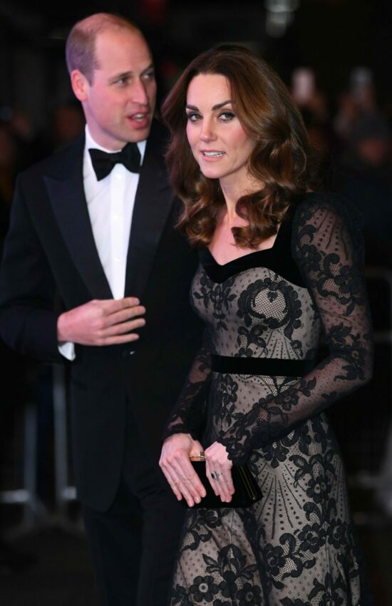 Duchess of Cambridge in Lace Alexander McQueen for Royal Variety Performance