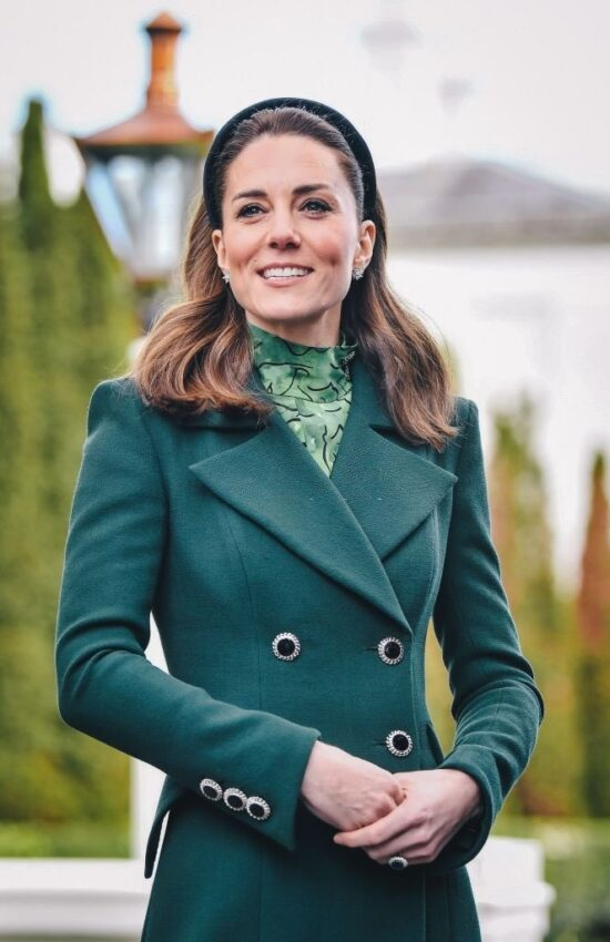 Kate Middleton Glam in Green for Start of Royal Tour Ireland