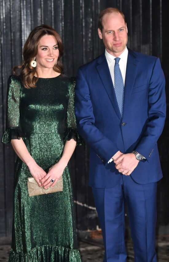 Kate Middleton in Metallic Dress for First Evening in Ireland