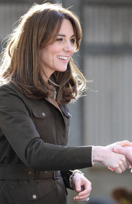 Duchess of Cambridge in Dubarry Coat for Day Two of Royal Tour Ireland