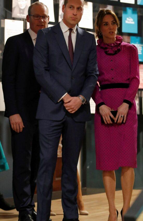 Duchess of Cambridge in Vintage Oscar de la Renta for Reception in Ireland