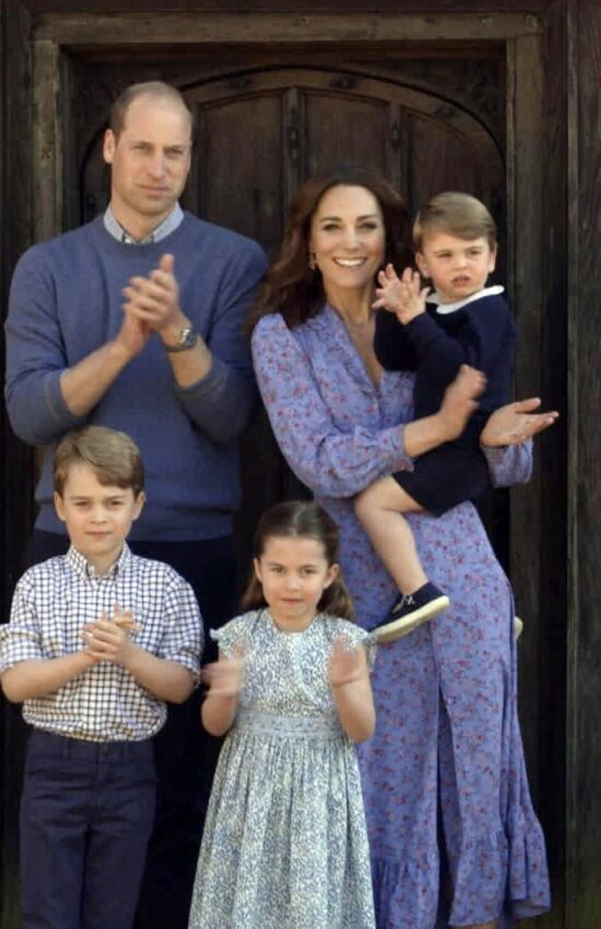 Kate Middleton in Floral Ghost Anouk Dress for Clap for Carers Telethon
