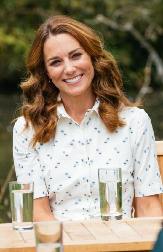 Kate Middleton in Suzannah Shirtdress for Royal Foundation Meeting