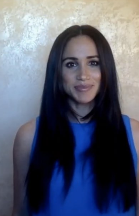 Meghan Markle in Blue for Girls Up Leadership Summit
