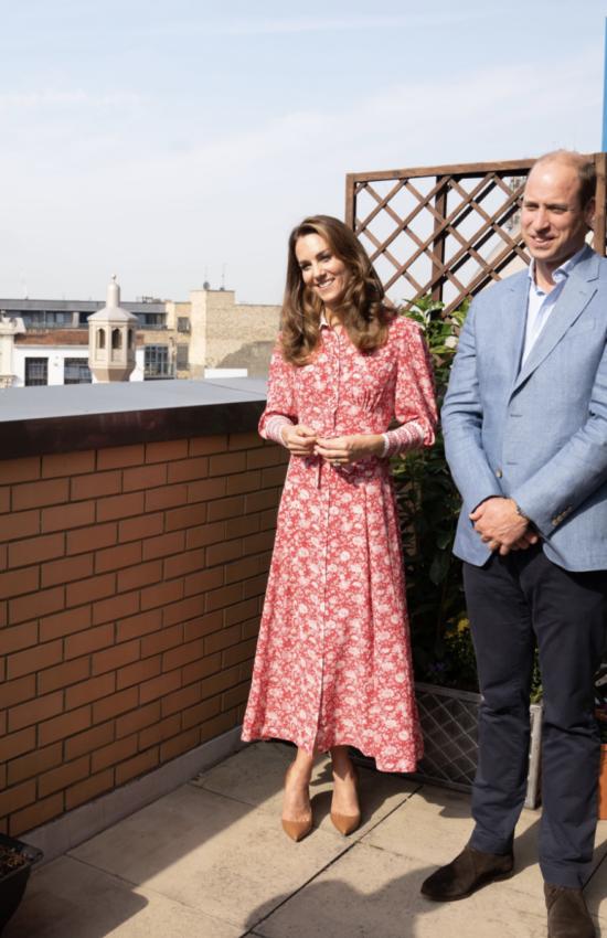 Kate Middleton in Beulah London Rose Shirtdress for Visit to East London