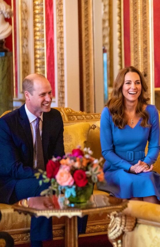 Kate Middleton in Shades of Sapphire to Host Palace Meeting