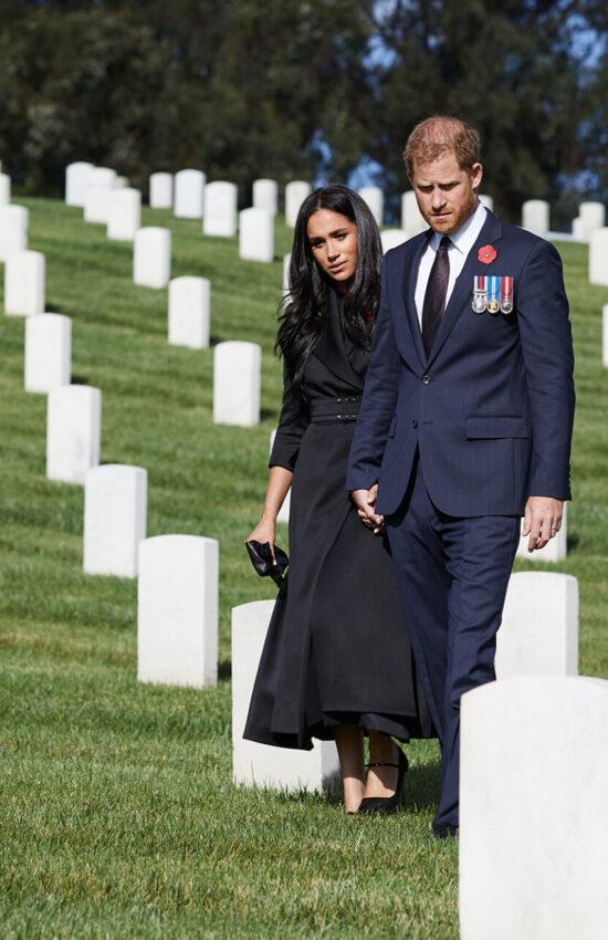 Meghan Markle wears Brandon Maxwell Jacket Dress for Remembrance Sunday