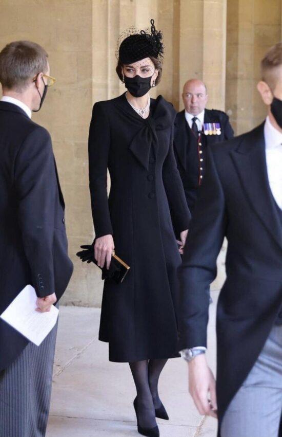 Kate Middleton Regal in Catherine Walker Coat for Prince Philip's Funeral