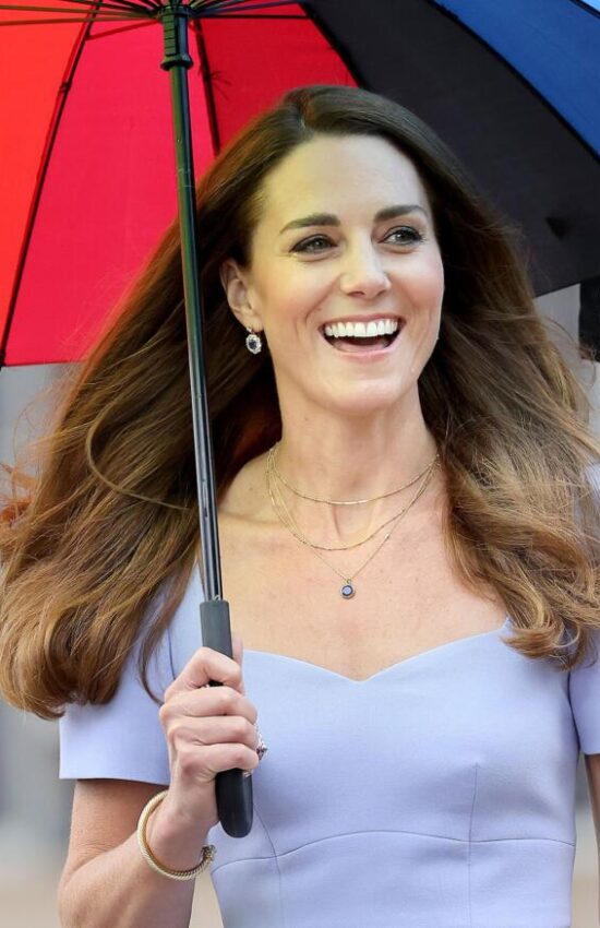 Kate Middleton in Pale Blue Shift Dress for Launch of Early Childhood Centre
