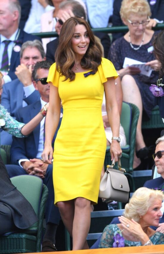 These Affordable Yellow Pencil Dresses Look Just Like Kate Middleton's Wimbledon Style