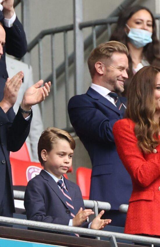 Kate Middleton in Red Zara Blazer for England Soccer Match