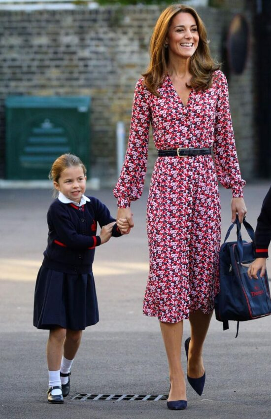 New Pictures of the Duchess of Cambridge Back to School Shopping with George and Charlotte