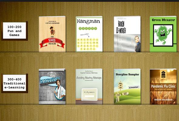 Bookshelf Template for Articulate Storyline