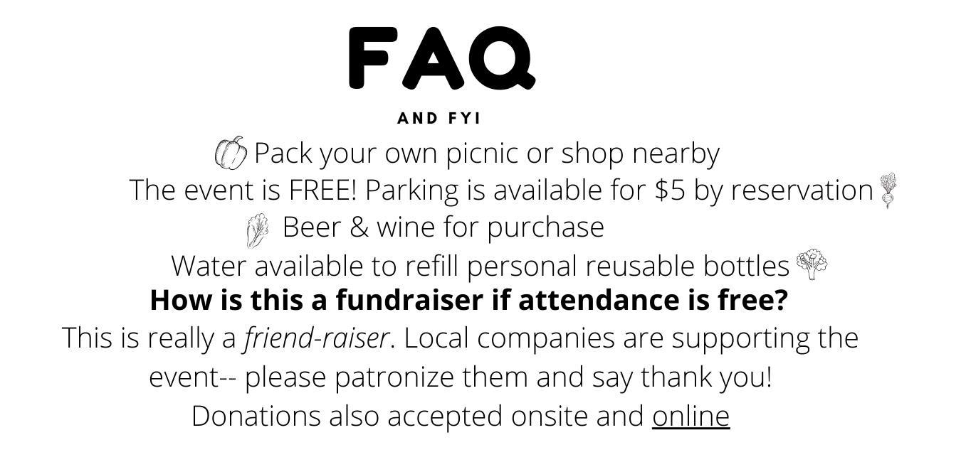 FAQs about the picnic
