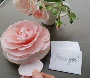 Bathing petals bath flower with Thank You card - Amarie's bath flowers