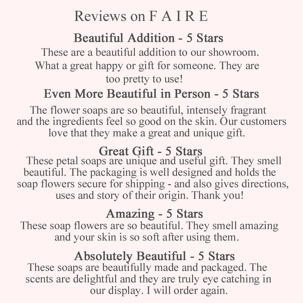 FAIRE Reviews - A'marie's Bath Flowers
