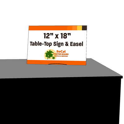"""12"""" x 18"""" Table-Top Sign and Easel"""